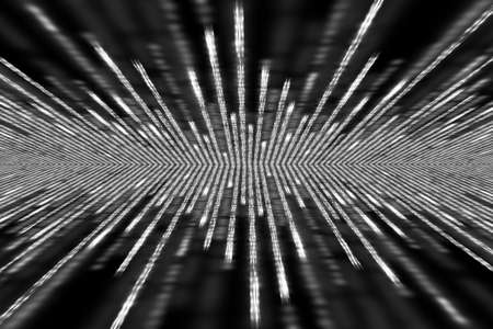 white matrix background, perspective with radial blur
