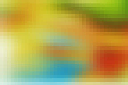 sun burnt: orange digitally generated image of colorful black background with beautiful square pattern texture mosaic filter