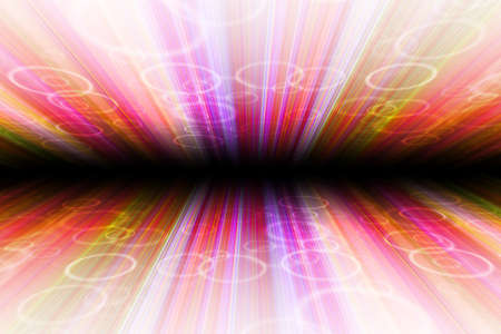 cycles: abstract background with vertical colorful stripes, with cycles, perspective with radial blur