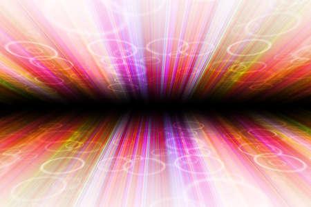 ciclos: resumen de antecedentes con rayas de colores verticales, con los ciclos, la perspectiva con el desenfoque radial