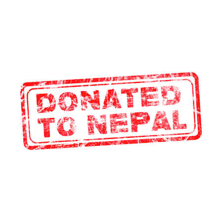 disaster relief: red grunge rubber stamp with text Donated To Nepal, vector illustration Illustration