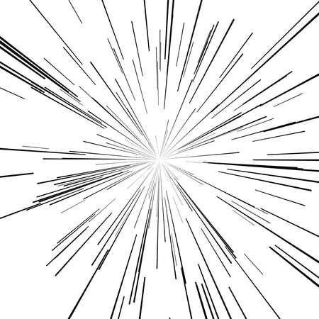 vector set of points of the star and explosion hazard or speed motion lines from center
