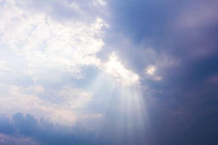 hope: sun rays through cloudy sky, hope symbol
