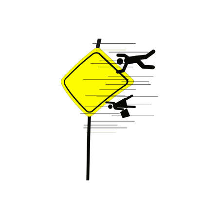 blown away: illustration vector of school area sign, with the car driving very fast so that the people in the sign blown away out of the frame
