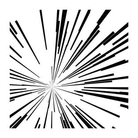 catastrophe: illustration vector abstract speed motion black lines ,star burst background