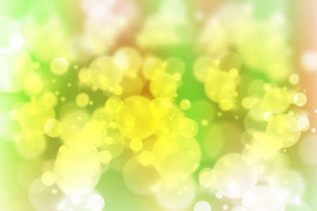 twinkling: illustration yellow green abstract background with beautiful glitter twinkling bokeh Stock Photo