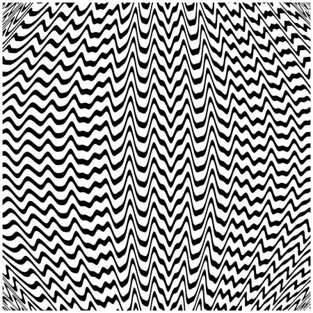 white wave: illustration abstract background with black and white wave lines