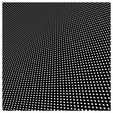 fine detail: Vector abstract background of white square pattern on black background with perspective view.