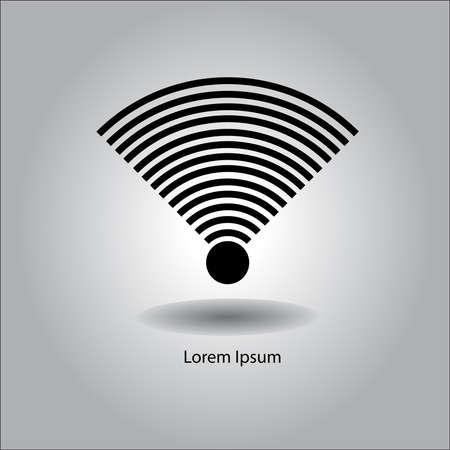 wifi access: illustrazione vettoriale Wireless e icona wifi o firmare per accesso a internet a distanza con segnale molto forte Vettoriali