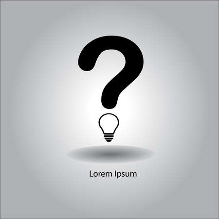questionmark: illustration vector question mark with bulb instead of the full stop Illustration