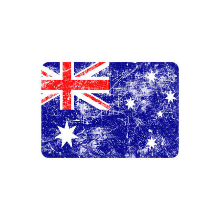 australia stamp: illustration vector grunge stamp flag of Australia country Vectores