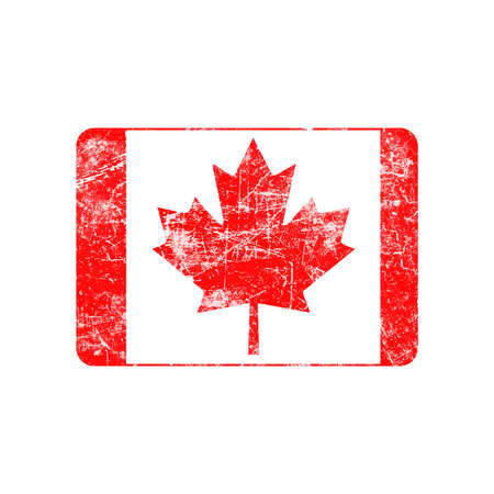 canada stamp: illustration vector grunge stamp flag of Canada country Illustration