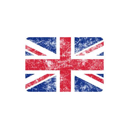 grunge union jack: illustration vector grunge stamp flag of United Kingdom country. Illustration