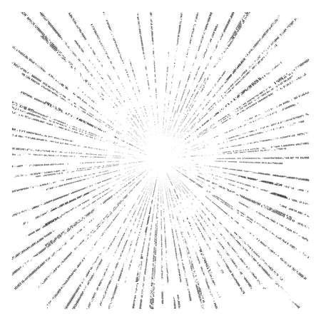 illustration vector abstract speed motion black dot lines ,star burst background, grunge stamp style Vector Illustration