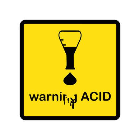 Ilustración vectorial diseño creativo ácido advertencia con signo de exclamación hecha de vaso y gota de ácido Foto de archivo - 46715931