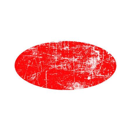 ellipse: illustration vector red ellipse grunge rubber texture stamp