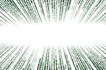 encoded: green matrix background computer generated, perspective with speed motion blur