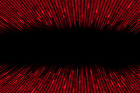 encoded: red matrix  background computer generated, perspective with speed motion blur