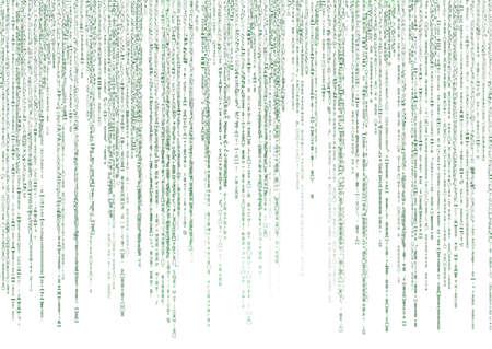 encoded: matrix code on white background