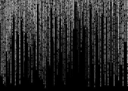 encoded: white matrix code on black background