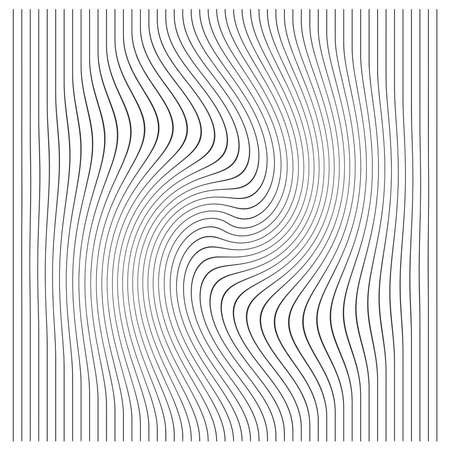 curving: illustration vector vertical lines with stripes pattern or background with wavy, curving distortion effect. Illustration
