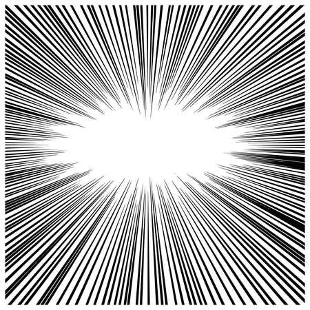 illustration vector abstract manga speed motion thick black starburst straight lines