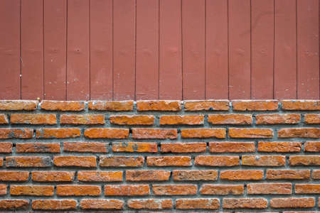 brick wall with vertical line brown background, splitted.