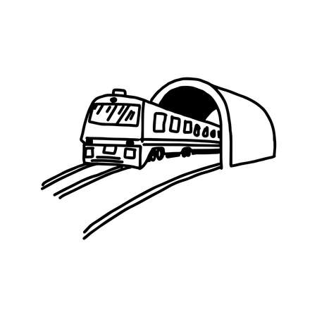 illustation vector hand drawn doodle of subway isolated on white background