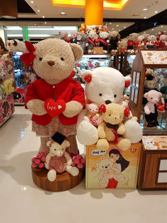 CHIANG RAI, THAILAND - FEBRUARY 2 : Department store interior view with teddy bear zone at Central Plaza on February 2, 2017 in Chiang rai, Thailand. Editorial