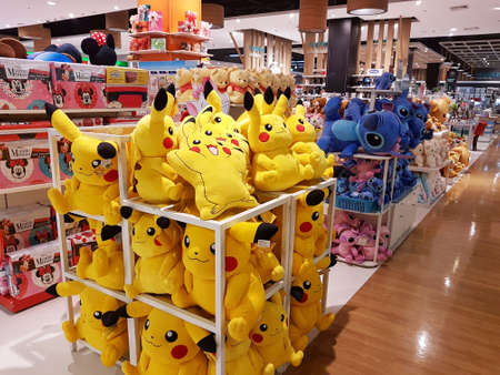 CHIANG RAI, THAILAND - FEBRUARY 2 : Department store interior view with pokemon at Central Plaza on February 2, 2017 in Chiang rai, Thailand.