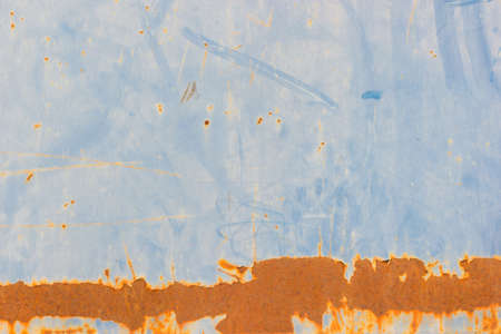 grunge texture of metal plate with dirty brown stain