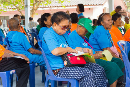 CHIANG RAI, THAILAND - FEBRUARY 19 : Unidentified asian people suffering from leprosy in conference  on February 19, 2016 in Chiang rai, Thailand. Editorial