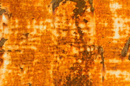 oxidate: orange rusty and grungy dripping texture background