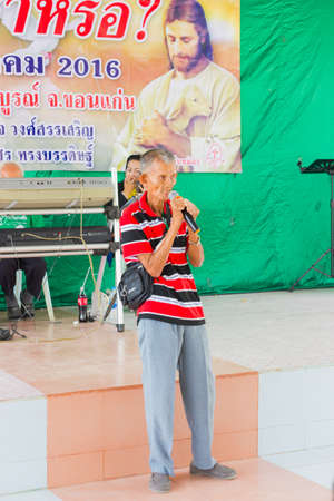 CHIANG RAI, THAILAND - FEBRUARY 20 : unidentified man suffering from leprosy speak out at Christian camp on February 20, 2016 in Chiang rai, Thailand.