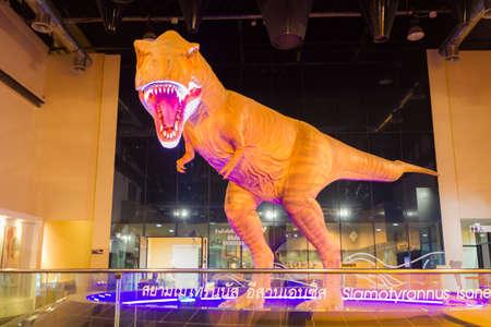KALASIN, THAILAND - MARCH 3 : Big model of Siamotyrannus isanensis at Sirindhorn Dinosaur Museum on March 3, 2018 in Kalasin, Thailand.