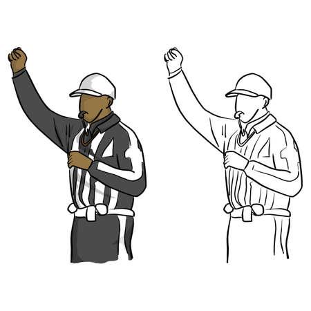 Árbitro de fútbol americano Ilustración de vector
