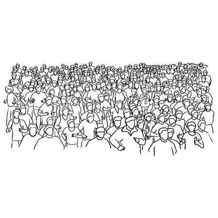 marathon runner vector illustration sketch doodle hand drawn with black lines isolated on white background Illustration