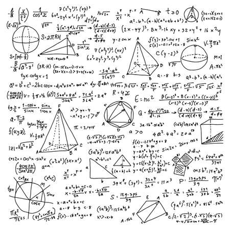 Mathematical scientific sign vector illustration sketch doodle hand drawn with black lines isolated on white background