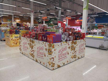 CHIANG RAI, THAILAND - NOVEMBER 21 : various brand of cookies sold on supermarket display on November 21, 2019 in Chiang Rai, Thailand. Editorial