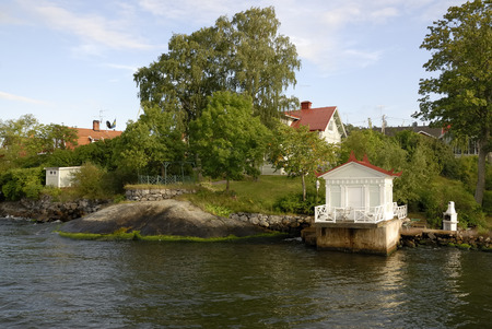 Swedish summer house in the Stockholm archipelago photo