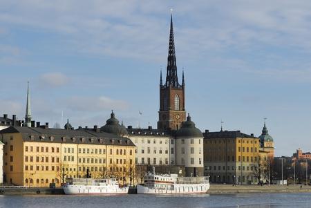 scandinavian peninsula: Riddarholmen in central Stockholm Stock Photo