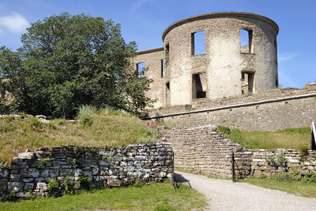 scandinavian peninsula: Borgholm castle ruins in Sweden Editorial
