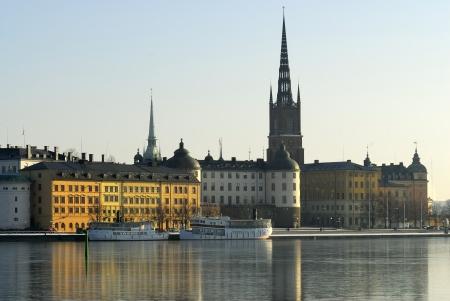 scandinavian peninsula: The island Riddarholmen in central Stockholm