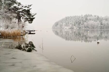 winter wonderland: Vintage Winter Wonderland Archivio Fotografico