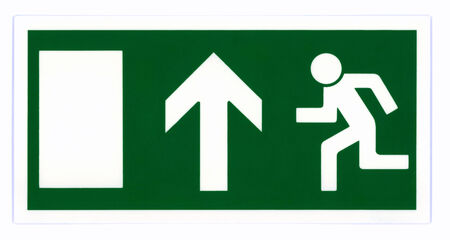 exit sign: Emergency exit sign Stock Photo