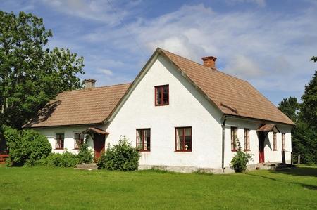 White houses and garden Standard-Bild