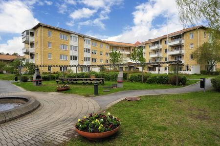Apartment Block in summer, Stockholm in Sweden