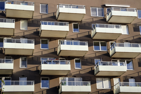 Modern apartment building Standard-Bild