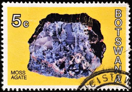 overprint: Botswana postage stamp