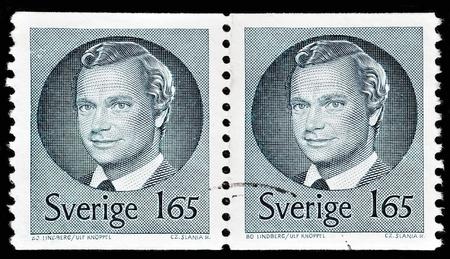 SWEDEN - CIRCA 1974: stamp printed by Sweden, shows King Carl XVI Gustaf, circa 1974.